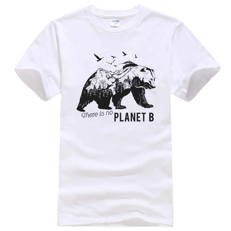 2019 New Summer Cotton Printed T Shirt Men Women There is no planet B Creative Design Polar bear Tees Unisex Tops T487