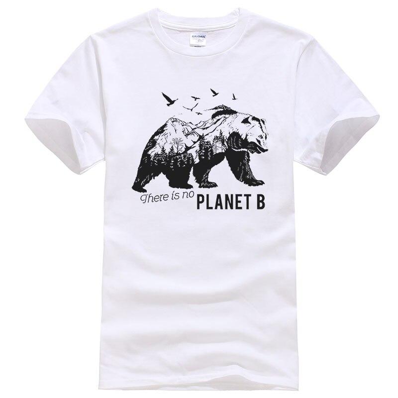 2019 New Summer Cotton Printed T Shirt Men Women There Is No Planet B Creative Design Polar Bear Tees Unisex Tops T487