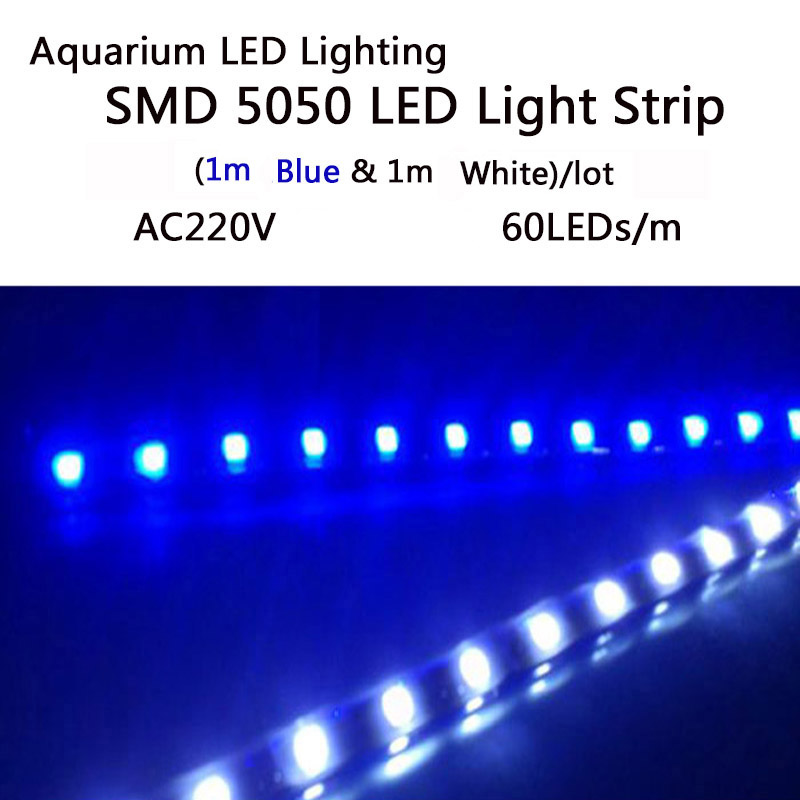 Aquarium LED-stripverlichting SMD5050 LED-groeilampen Strip voor waterplanten groeien in de aquarium AC 220V