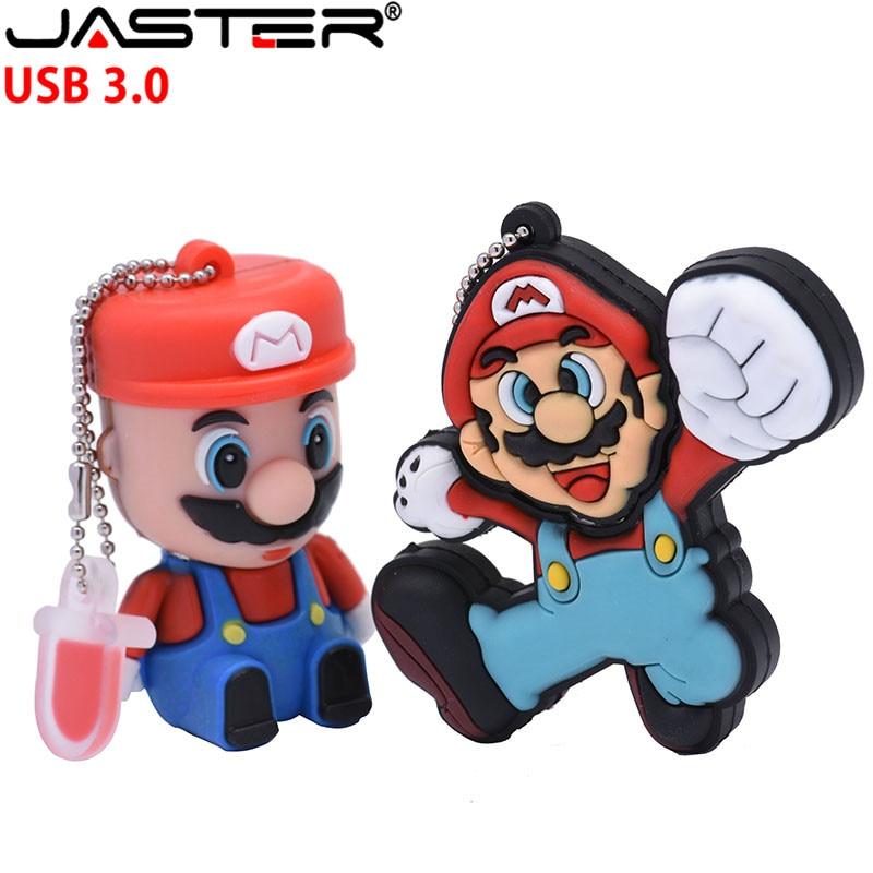 JASTER USB 3.0 Creative Cartoon Game Characters Super Mario Usb Flash Drive 4GB 8GB 16GB 32GB 64GB Fast Usb Memory Stick U Disk