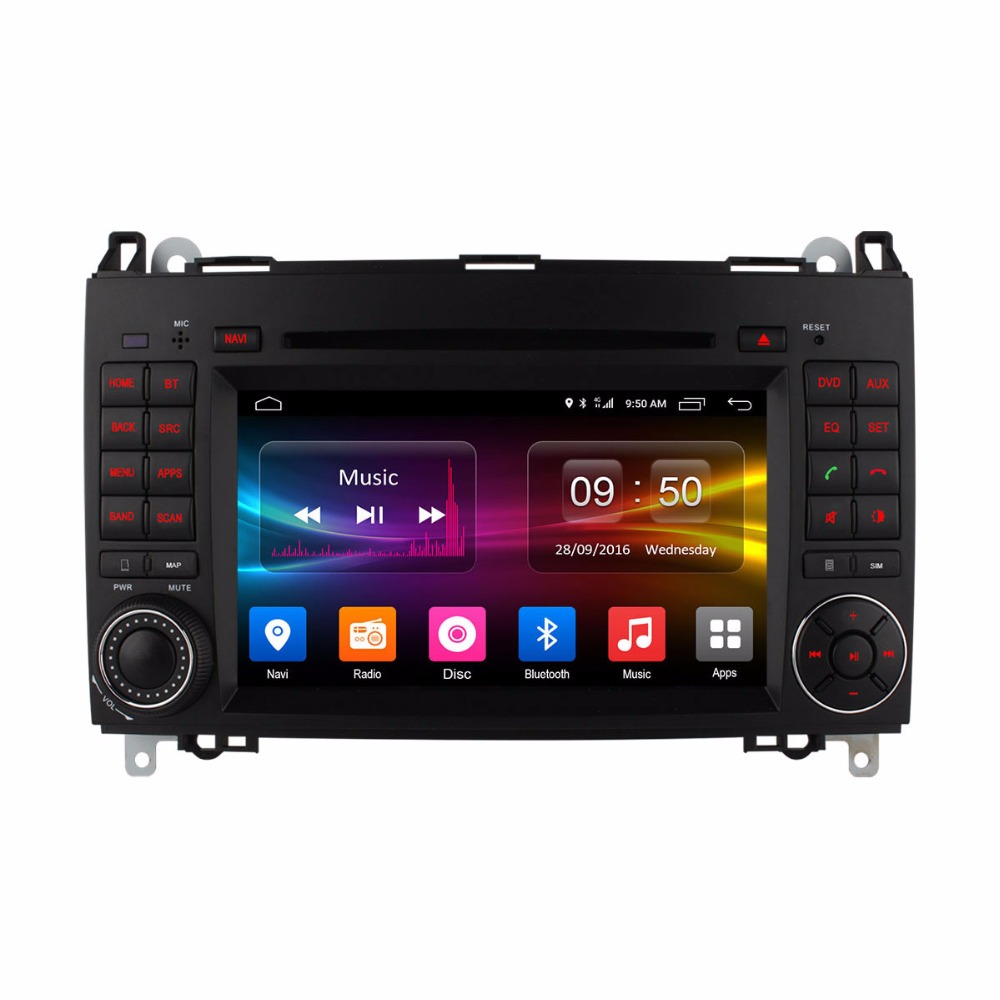 Android 6.0 Car DVD Player for Mercedes Benz B200 W169 A160 Viano Vito GPS Radio DAB Stereo Octa 8 Core CPU 2GB RAM 4G SIM LTE