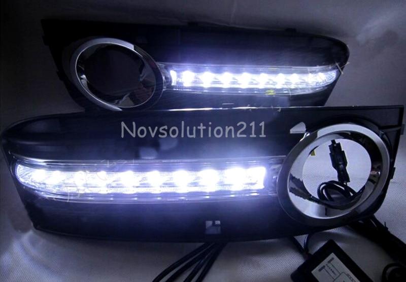 2PCS Waterproof LED Car Daytime Running Light DRL Daylight Lamp For Audi A4 B8 2008 2009 2010 2011 2012 Car styling 2009 2011 year golf 6 led daytime running light