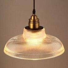 בציר תליון אורות זכוכית luminaire לופט רטרו Hanglamp יצירתי תעשייתי דקו maison תאורת גופי E27 מסעדות בר