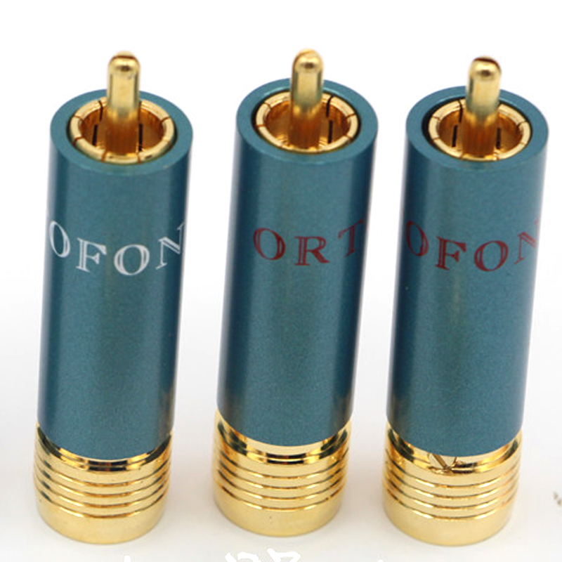 Image 2 - 4pcs/lot Gold plated HIFI RCA Plug Hi end Ortofon Reference 8NX RCA Connectors-in Plug & Connectors from Consumer Electronics