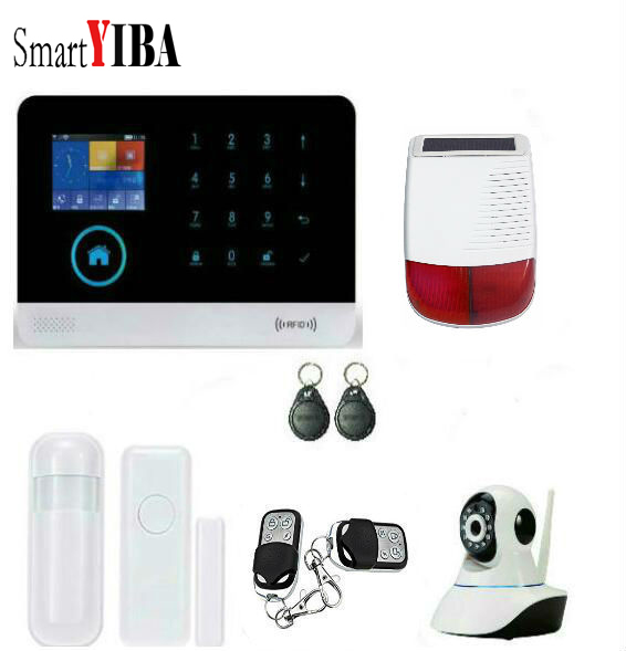 SmartYIBA Wireless WIFI Home font b Alarm b font Outdoor Siren Security Protection System For House