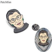 Patchfan Ruth Bader Ginsburg Zinc pins para backpack pride clothes metal medal for bag shirt badge brooches men women A1311