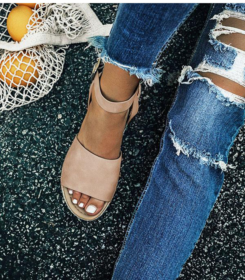 Women High Heels Sandals Summer Shoes Flip Flop Chaussures Femme Platform Sandals 39