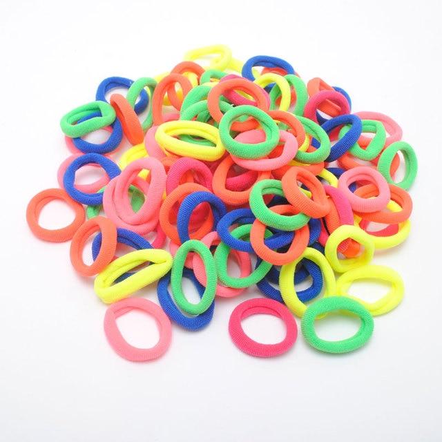 95 Pieces Baby Kids Elastic Hair Bands Baby Girls Hair Tie Good Elasticity Gum Ring Children Birthday Gift Accessories
