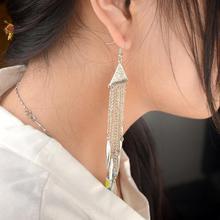 Punk Long Tassel Pearl Earrings for Women Gold Silver Plated Dangle Ladies Metal Alloy Drop Gift