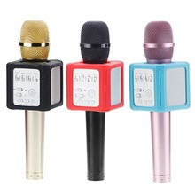 Upgraded Q9S Wireless Microphone KTV Karaoke Bluetooth Condenser Mic Recording Echo function Speakers For IOS Android