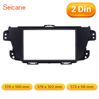 Seicane Black Car Radio Fascia 2Din Install Dash Bezel Trim Kit For 2014 SUZUKI ALTO K10 Cover Trim Car Stereo DVD Panel Frame