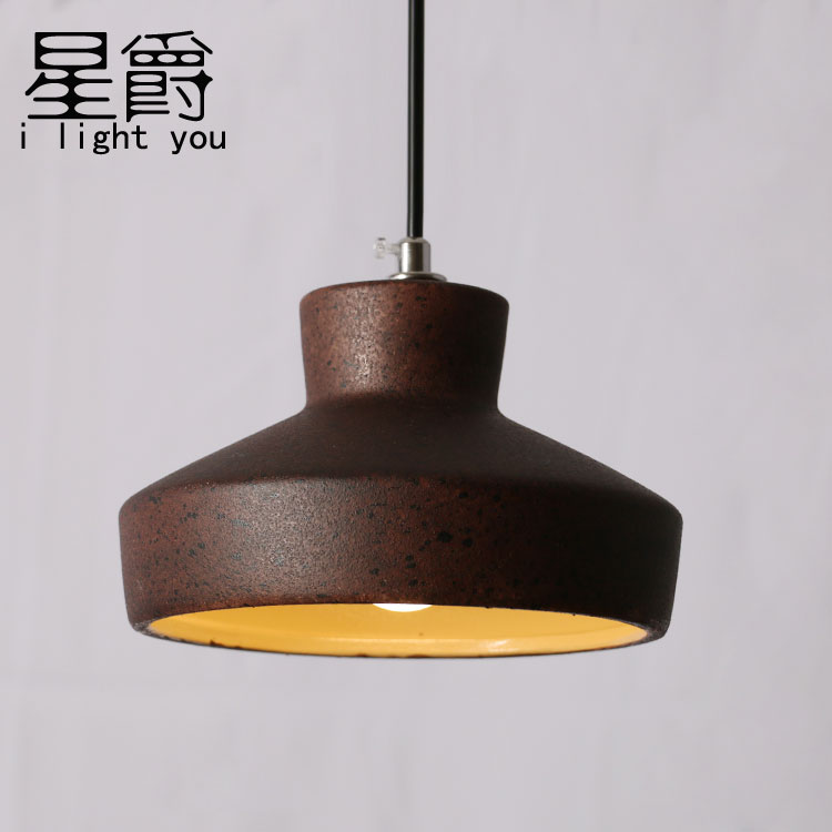 Loft Industrial Rust Ceramics Edison Pendant Lights Vintage Retro Cafe Bar Club Aisle Living Room Bedroom Pendant Lamp Decor retro loft style industrial vintage pendant lights hanging lamps edison pendant lamp for dinning room bar cafe