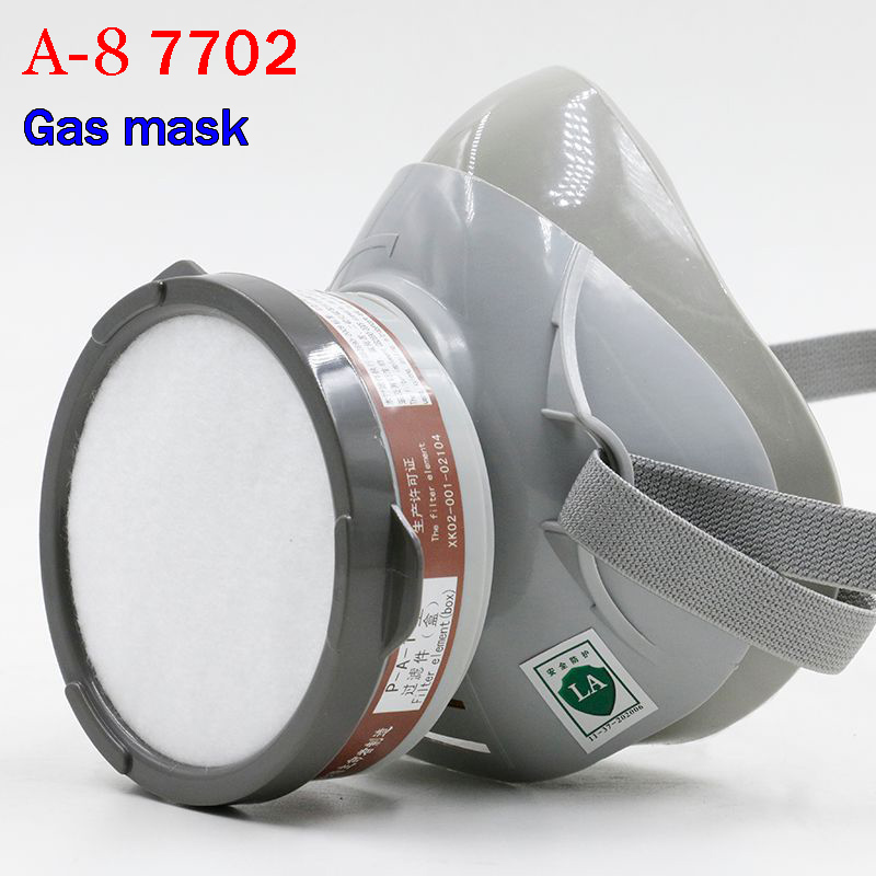 YIHU 7702 respirator gas mask High quality Patent technology carbon filter mask paint spray pesticide industrial safety gas mask sjl respirator gas mask pesticide paint industrial safety protective mask 4pcs filter filter cotton replace the use gas mask