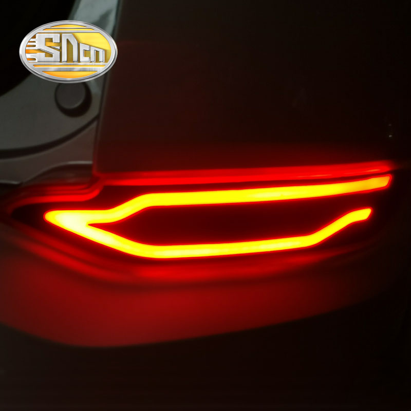 For Hyundai Tucson 2015 2016 SNCN Multi-function LED Rear Bumper Light Rear Fog Lamp Brake Light Turn Signal Light Reflector