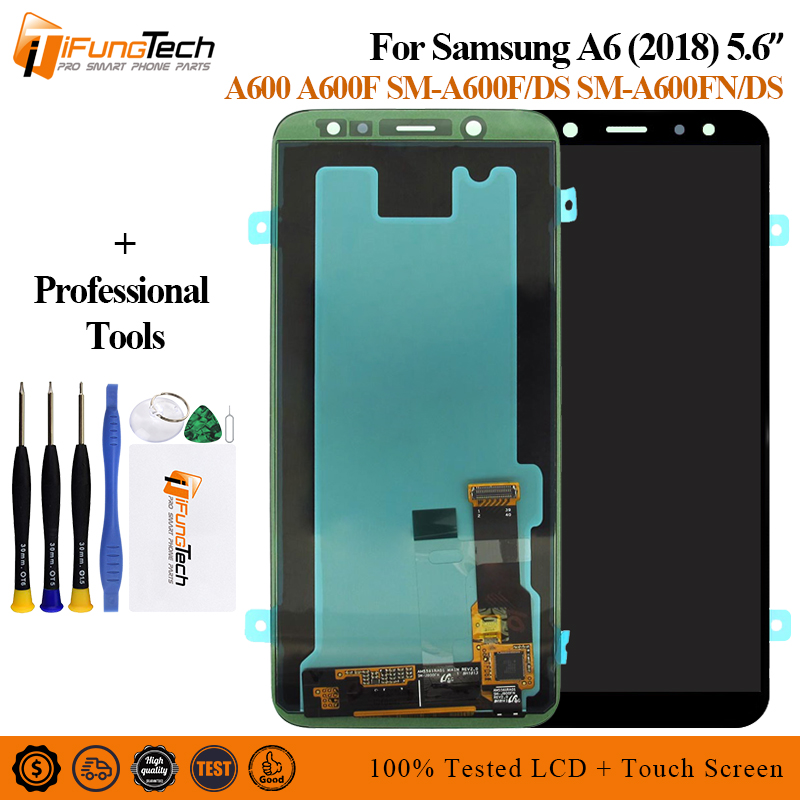 For SAMSUNG Galaxy A6 2018 A600 LCD Display Touch Screen Digitizer Assembly Replacement part For SAMSUNG