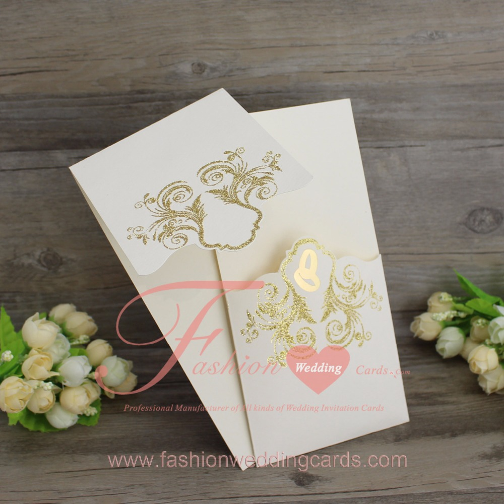 1PCS Hot Sale White Unique Royal Wedding Invitations Sample-in Cards ...