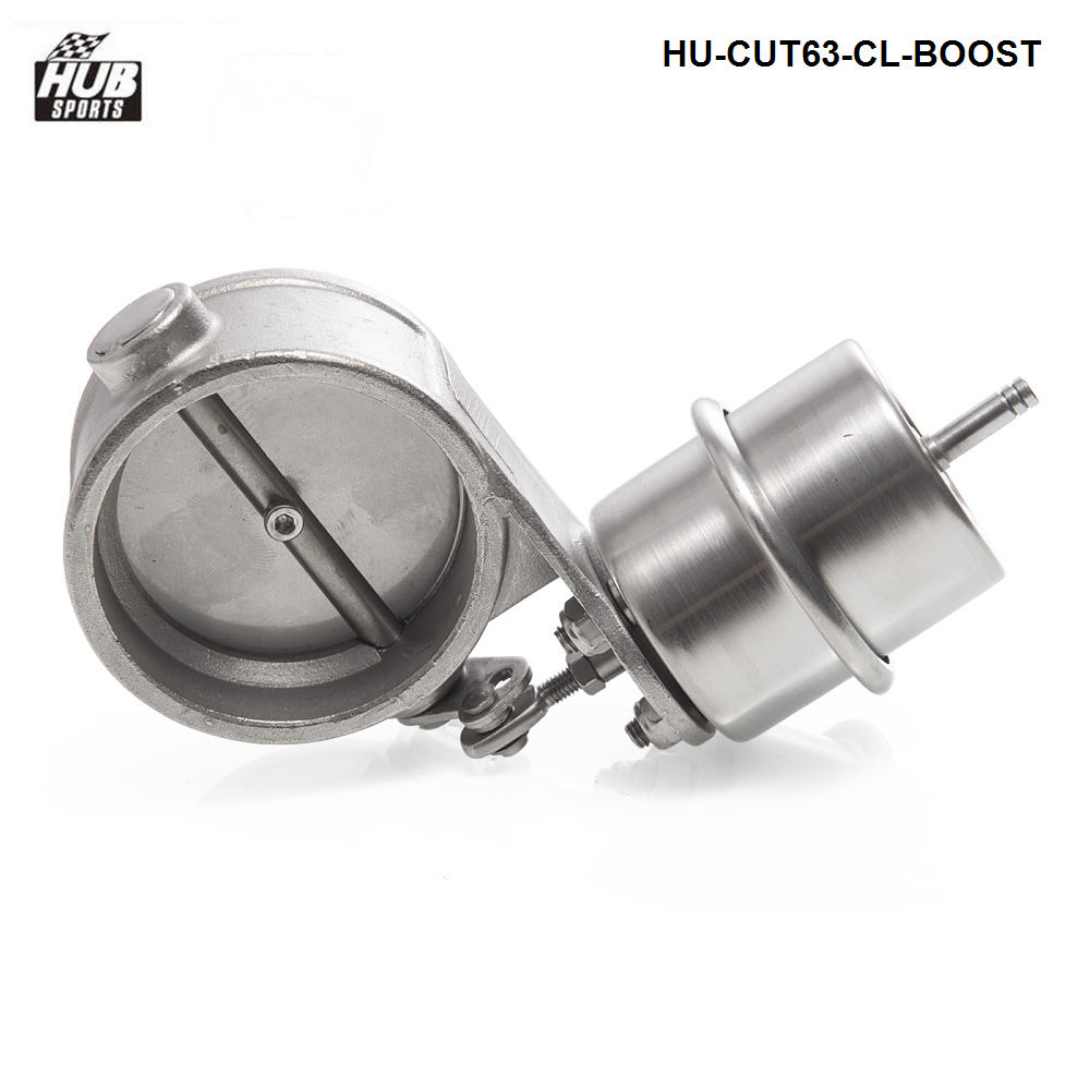 Stainless Steel Exhaust Control Valve Set Boost Actuator CLOSED Style 63mm Pipe Pressure:about 1 BAR HU-CUT63-CL-BOOST