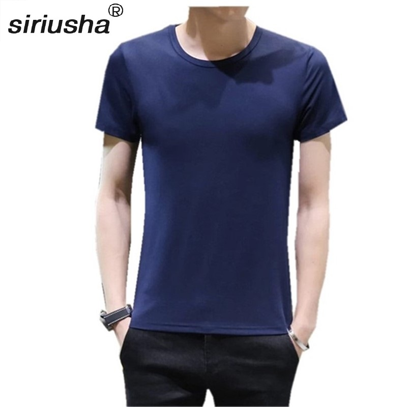 S100 Tee Men Thin Solid Short Sleeved T-shirt O-neck Summer On The Outside T Shirt Spring Autumn And Winter Inside Wear S-4XL