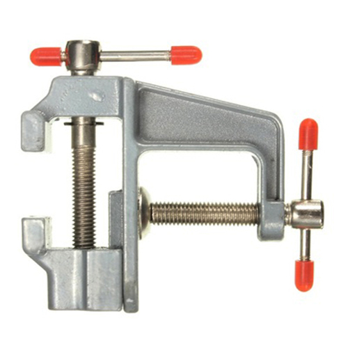 Aluminum Miniature Small Jeweler Clamp On Table Bench Vise Tool Vice 85mm x 95mm g 35mm aluminum miniature small jewelers hobby clamp on table bench vise tool vice top quality t tools knife dremel