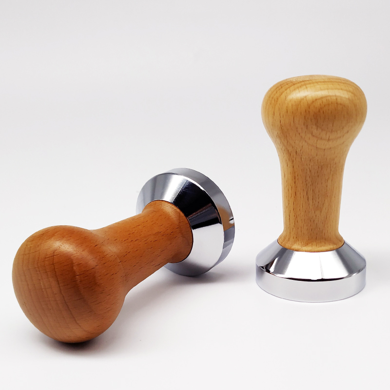 Food Grade 51mm Espresso Coffee Tamper Coffee Pull Cup Press Flat Base Barista Accessories Wholesale Free Shipping
