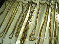 New 10 pieces mens boys golden quality stainless steel chains necklaces wholesale mixed lot