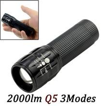 LED Flashlight Lanterna de led linternas Torch 2000 lumen Zoomable lamp mini flashlight led light lantern bike light