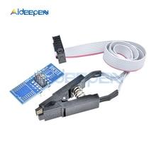 SOIC8 SOP8 флэш-чип тестовый зажим гнездо адаптер для EEPROM 93CXX/25CXX/24CXX USB программист программируемый TL866CS TL866A EZP2010