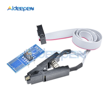 цены SOIC8 SOP8 Flash Chip Test Clip Socket Adapter For EEPROM 93CXX/25CXX/24CXX USB Programmer Programable TL866CS TL866A EZP2010