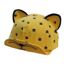 Summer Baby Boys Girls Hat Ears Beard Stars Cat Print Hat Newborns Cap Kids Baseball Hats Kids Boy Girl Sun Hats Cotton Caps