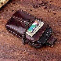 Cinturón banda para cintura genuino de la vaca de cuero funda de teléfono para Xiaomi Redmi Y1/Y1 Lite Mi A1... Mi nota 3 Mi A1 (5X) Redmi Note 5A primer