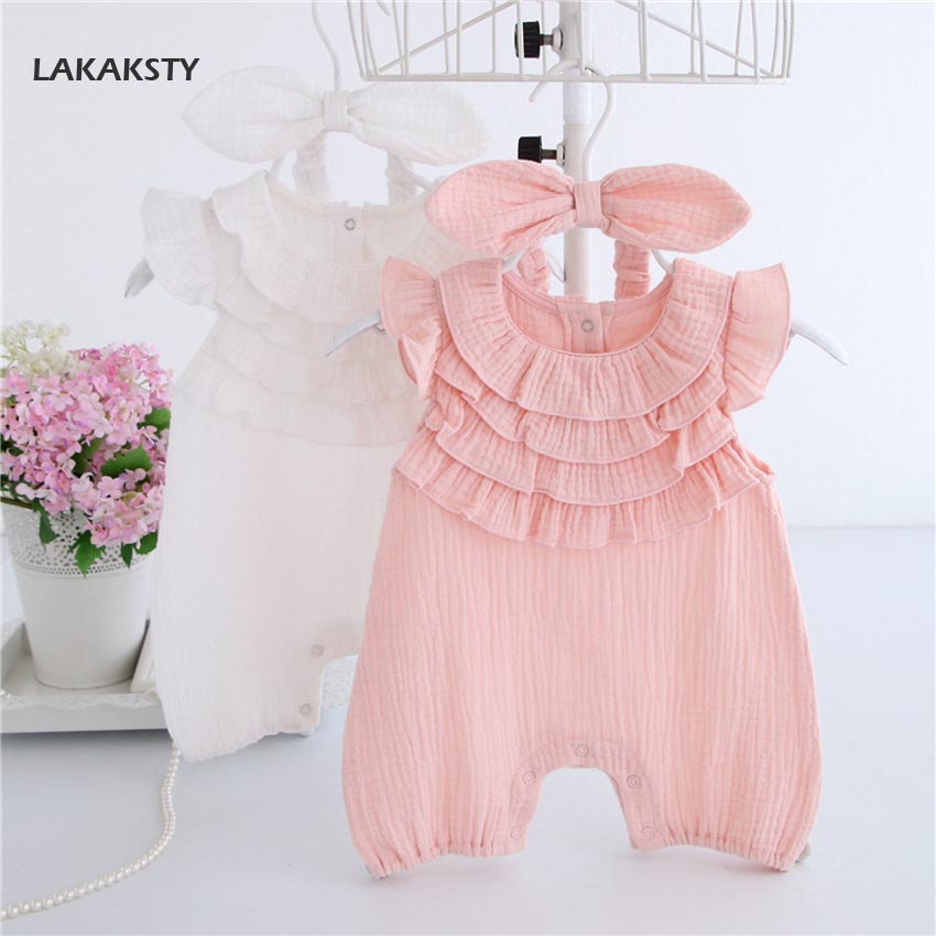 High Quality Newborn Baby Clothes Girls Rompers Short Sleeve Summer Clothes Tiny Cotton Baby Girl Romper Recien Nacido Jumpsuit newborn baby rompers high quality natural cotton infant boy girl thicken outfit clothing ropa bebe recien nacido baby clothes