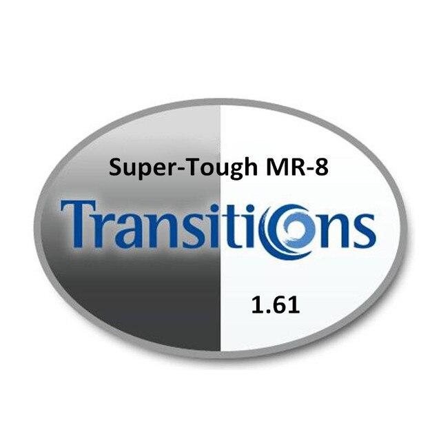 1.61 Супер-жесткие MR-8 HMC Фотохромные Серый и Коричневый УФ AR Мужская CR-39 очки по рецепту RX линзы для близорукости astigmatis