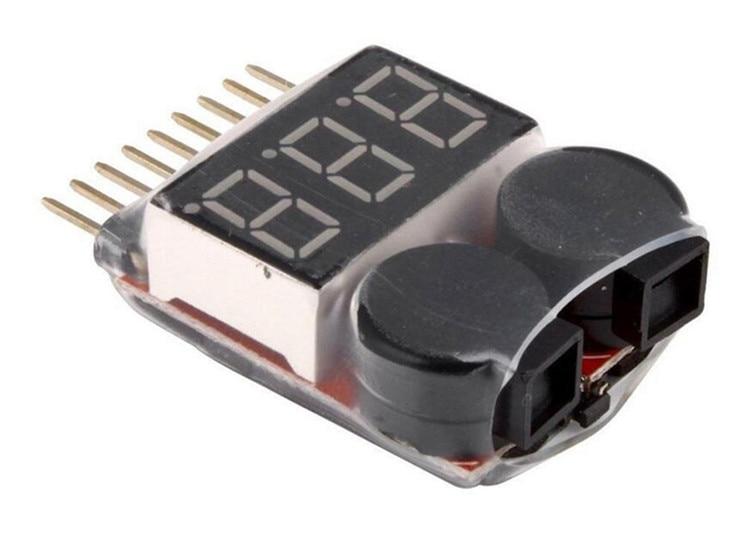 1000 pcs 1-8 S Basse Tension Alarme Par Buzzer 1-8 S Lipo/Li-ion/Fe Batterie tension 2IN1 Testeur D'origine Vistapower Pour RC BB Anneau
