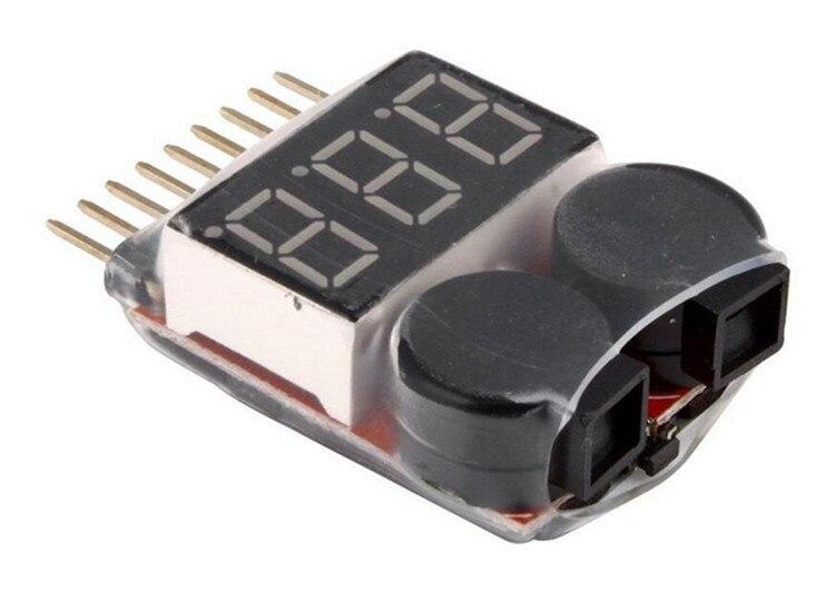 1000 stücke 1-8 S Niederspannungs Alarmton 1-8 S Lipo/Li-Ion/Fe Batterie spannung 2IN1 Tester Original Vistapower Für RC BB Ring