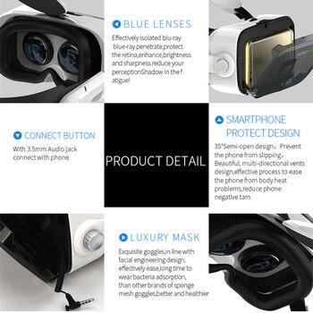 Original BOBOVR Z4 Leather 3D Cardboard Helmet Virtual Reality VR Glasses Headset Stereo Box BOBO VR for 4-6' Mobile Phone 2