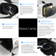 Leather 3D  VR Headset Stereo Box