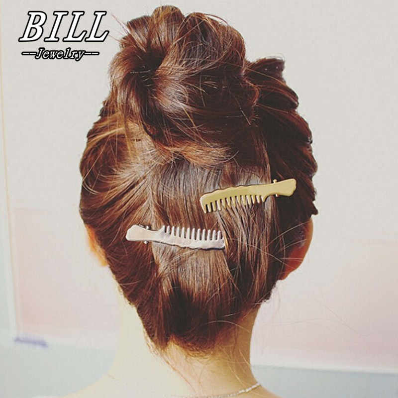 TS406 Women Hairpin Comb Pattern Hair Clip Hair Barrettes Apparel Accessories Headpiece Fashion Jewelry 2018