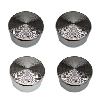 MENSI 4PCS/LOT Metal Zinc Chrome Rotary Switch for Gas Stove Cooktop Spare Part Handle Shaft 6.1mm