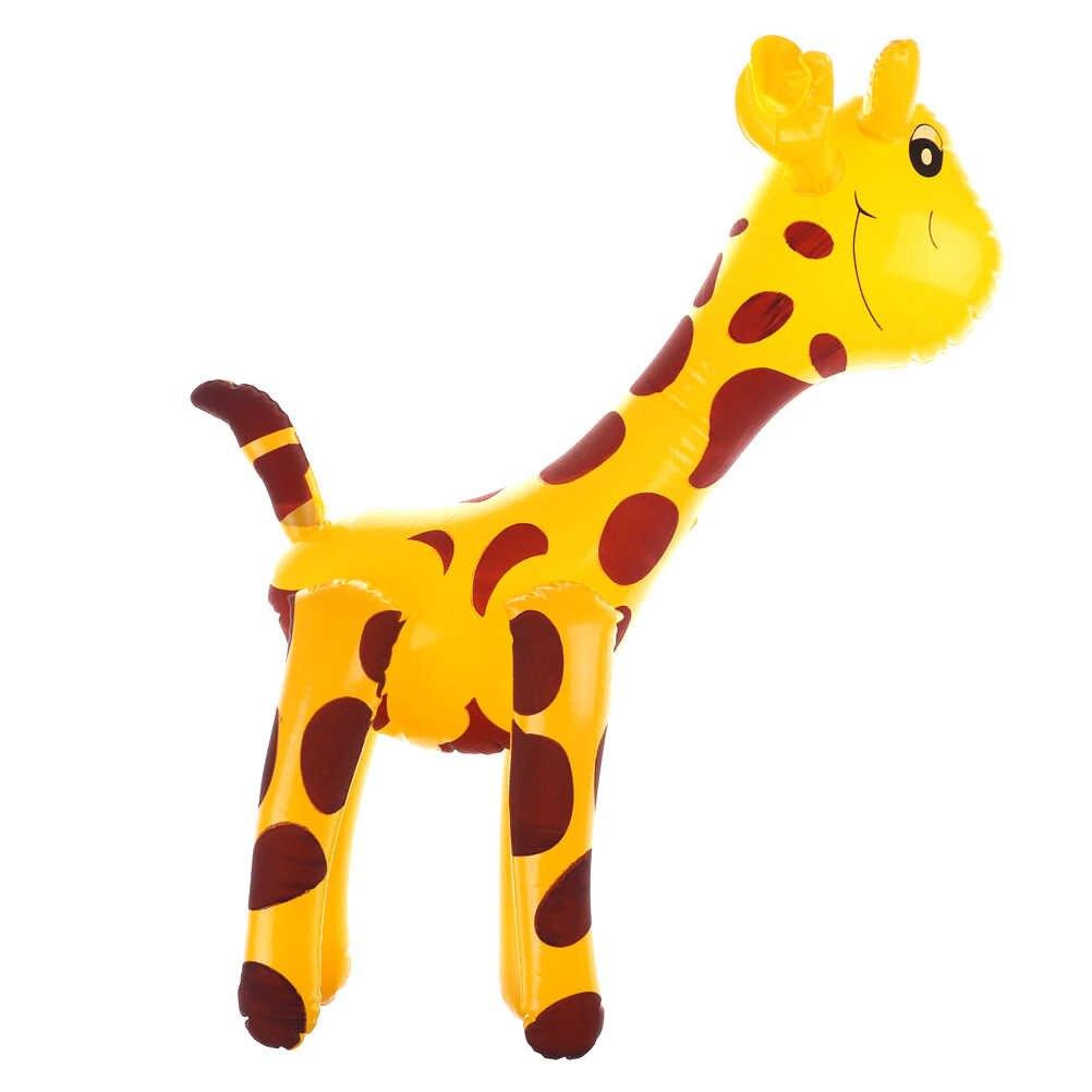 1pc Cartoon Deer/żyrafą zwierzęciem balon Infaltable odkryty dzieci ogród stoczni zabawki pcv Anime nadmuchiwane miecze zabawka dla dzieci