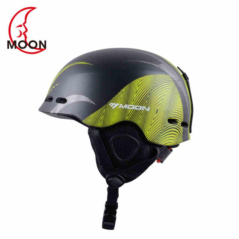 Moon Ski Helmet Ultralight Integrally-Molded Professional Winter Snow Sports Helmet Men Skateboard Skiing Protective Helmet