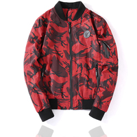 Men's Jackets New Brand Spring Autumn Fashion Military Camouflage Jacket Male Warm Long Sleeves Red Fit Coat Outwear Size M 2XL