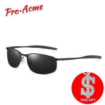 842304d2ee Pro Acme marca gafas de sol para hombres, gafas de rectángulo de conducción  espejo deporte gafas de sol hombre PA0926
