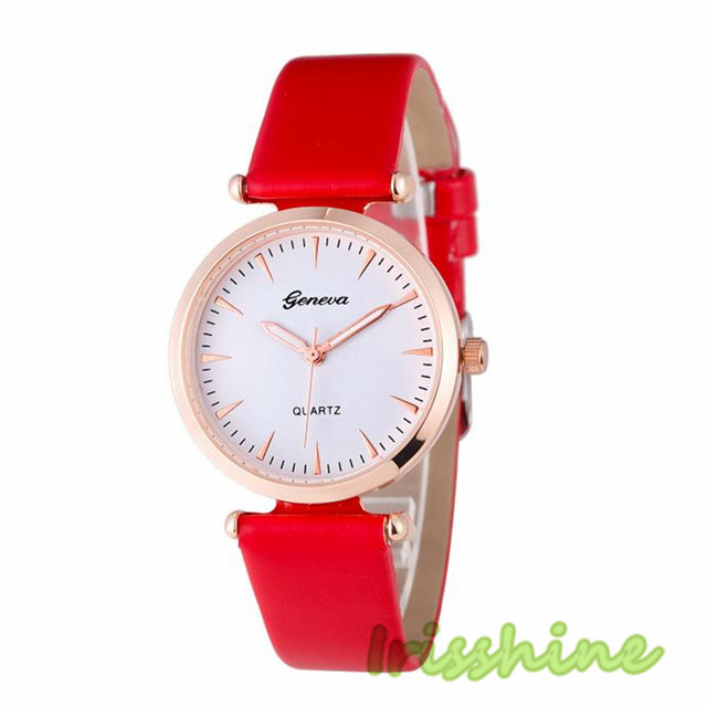 Irisshine i0646 Lady Fashion Women Diamond Analog Leather Quartz Wrist Watch wom