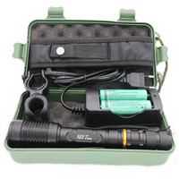 2000 Lumen Zoomable CREE XM L T6 LED Super Bright 18650 Flashlight Torch 18650 Battery Charger