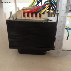 Image 2 - IWISTAO 175W tüp amplifikatör güç trafosu 300VX2 5V çift 3.15VX2 silikon çelik levha oksijensiz bakır tel HIFI ses DIY