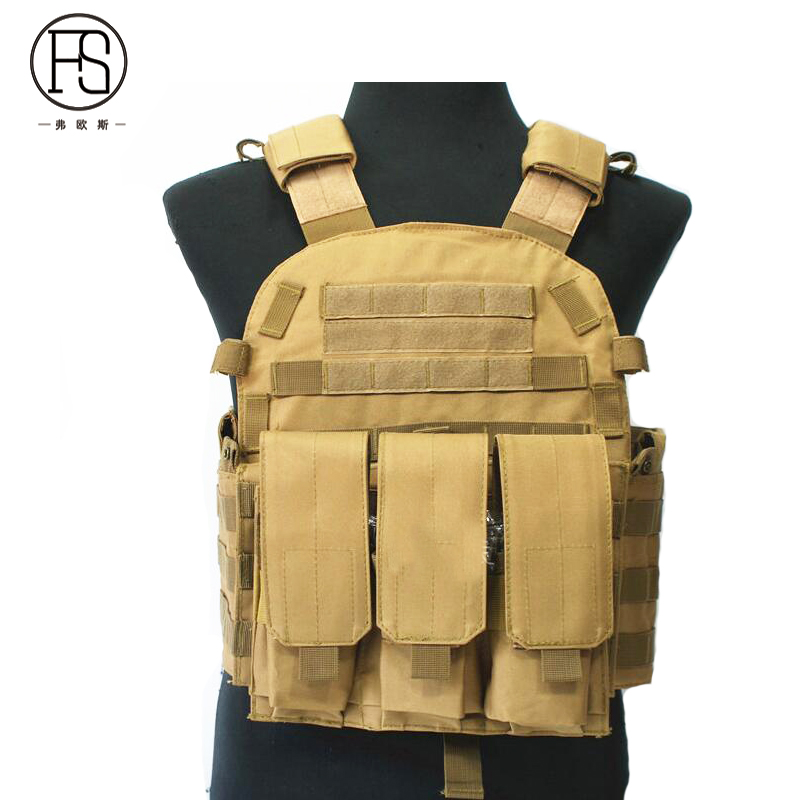 Gilet d'entraînement tactique de Combat de l'armée américaine gilet militaire de tir de chasse en plein air avec poche de Magazine gilet de Sport Airsoft
