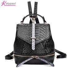 Бренд Высокое качество Aligator кожаные рюкзаки для девочек-подростков женщин рюкзак 2017 Горячая сетка Женский школьная сумка розовые рюкзаки