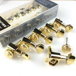 جديد الذهب الغيتار قفل المستقبلون آلة الغيتار الكهربائي رؤساء المستقبلون JN-07SP قفل ضبط أوتاد (مع التعبئة والتغليف)
