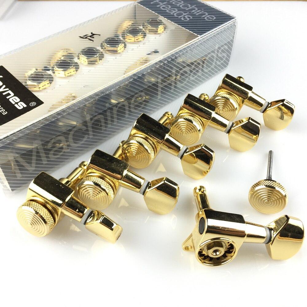 Nouveaux accordeurs de verrouillage de guitare en or têtes de Machine de guitare électrique accordeurs chevilles de réglage de verrouillage de JN-07SP (avec emballage)