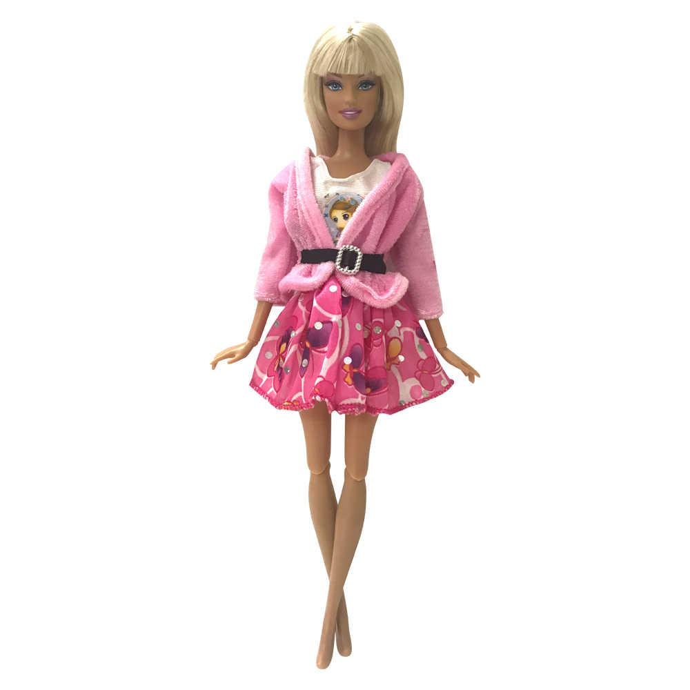 NK/Новинка 2019 года; Кукольное платье; Красивая праздничная одежда ручной работы; модное платье + шляпа для куклы Барби; лучший подарок для девочек; 086A